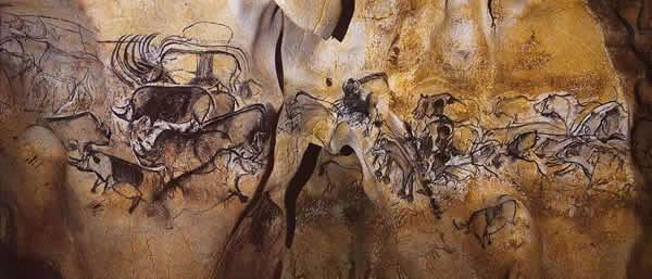 法国肖维岩洞旧石器遗址的岩画.jpg